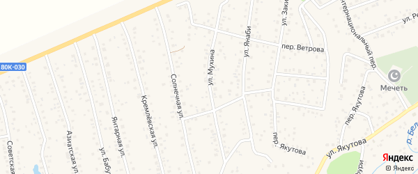 Улица Мухина на карте села Иглино с номерами домов