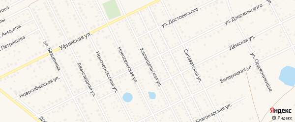 Караидельская улица на карте села Иглино с номерами домов