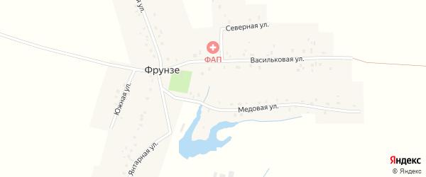 Проезд Фрунзе на карте Октябрьского с номерами домов