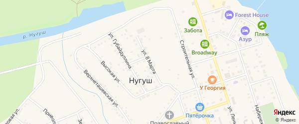 Улица 8 Марта на карте села Нугуша с номерами домов