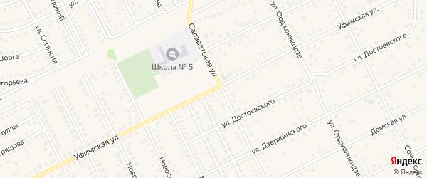 Уфимская улица на карте села Иглино с номерами домов