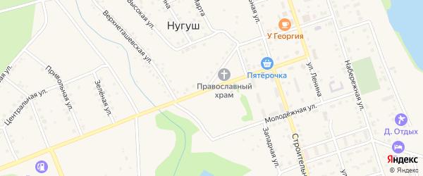 Улица Космонавтов на карте села Нугуша с номерами домов