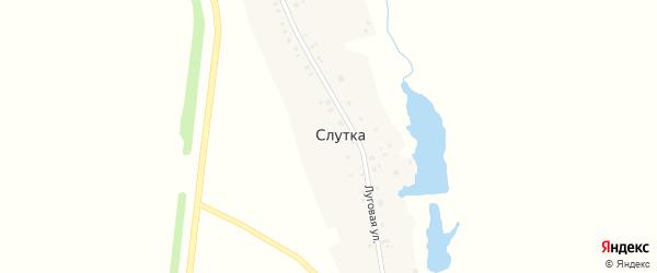 Луговая улица на карте деревни Слутки с номерами домов