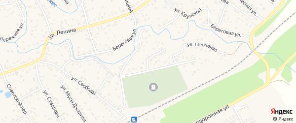 Улица Шевченко на карте села Иглино с номерами домов