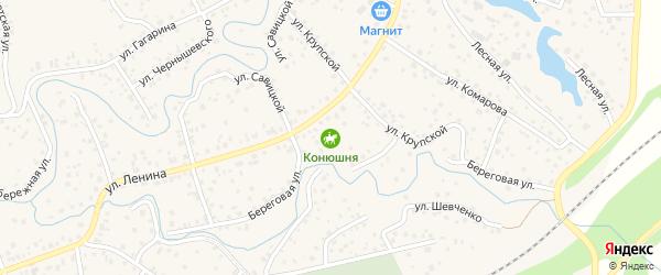 Южный переулок на карте села Иглино с номерами домов