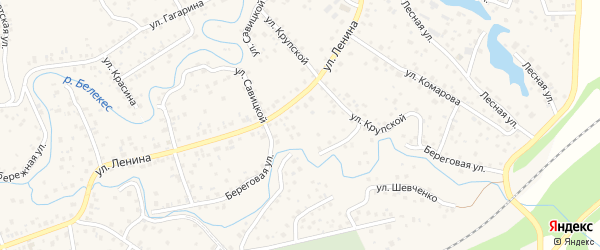Улица 1654 км на карте села Иглино с номерами домов