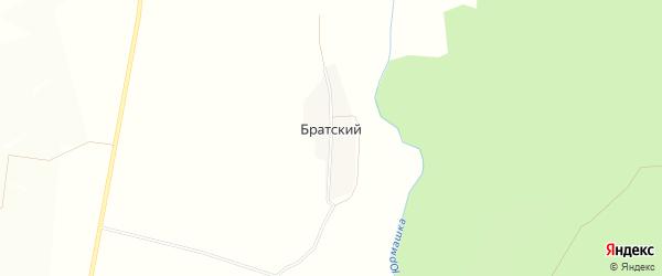 Карта деревни Братского в Башкортостане с улицами и номерами домов