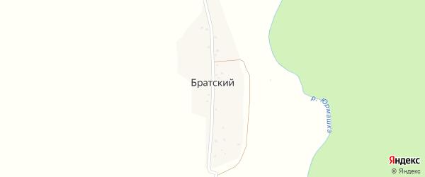 Озерная улица на карте деревни Братского с номерами домов