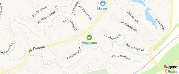 Солнечная улица на карте села Иглино с номерами домов