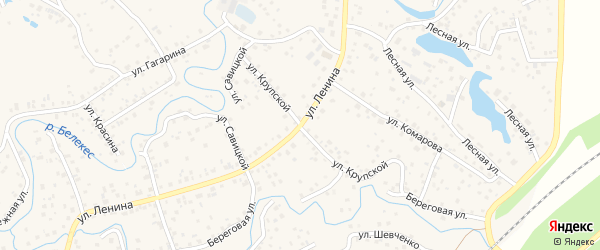 Улица Крупской на карте села Иглино с номерами домов