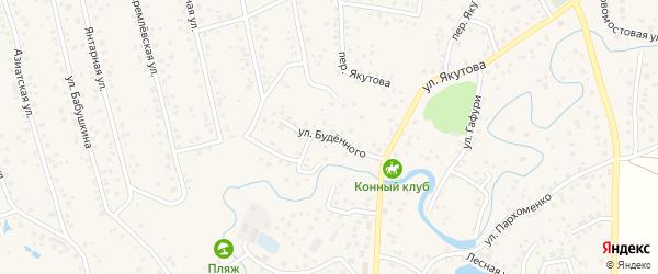 Улица Буденного на карте села Иглино с номерами домов