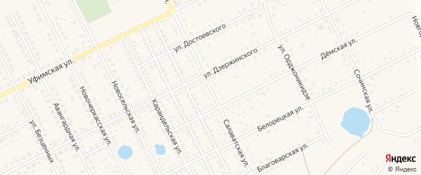 Салаватская улица на карте села Иглино с номерами домов