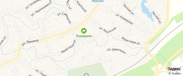 Береговая улица на карте села Иглино с номерами домов