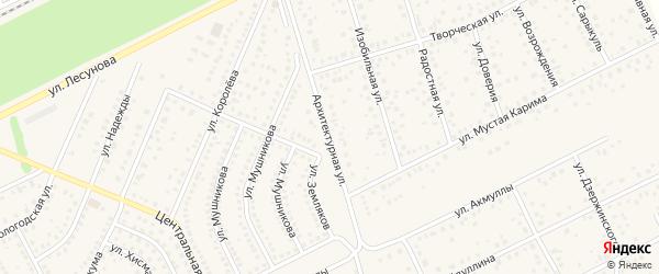 Архитектурная улица на карте села Иглино с номерами домов
