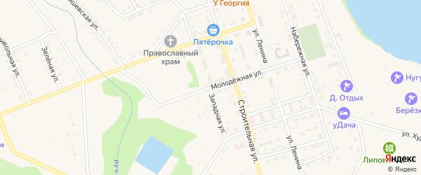 Западная улица на карте села Нугуша с номерами домов