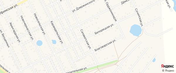Белорецкая улица на карте села Иглино с номерами домов