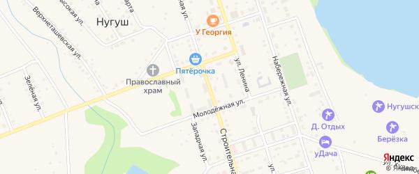 Строительная улица на карте села Нугуша с номерами домов