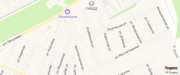 Изобильная улица на карте села Иглино с номерами домов