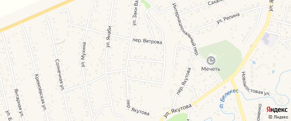 Переулок Заки Валиди на карте Иглинского сельсовета с номерами домов