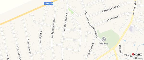Переулок Ветрова на карте села Иглино с номерами домов