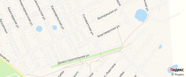 Благоварская улица на карте села Иглино с номерами домов