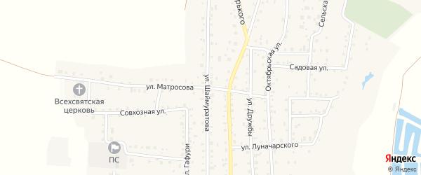 Улица Матросова на карте села Прибельского с номерами домов