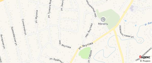 Переулок Якутова на карте села Иглино с номерами домов