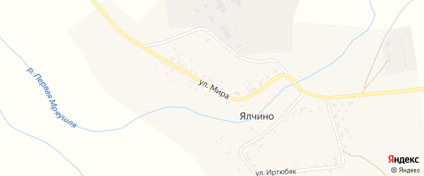 Улица Мира на карте деревни Ялчино с номерами домов