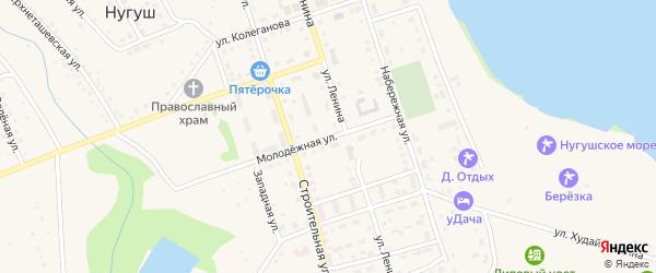 Молодежная улица на карте села Нугуша с номерами домов