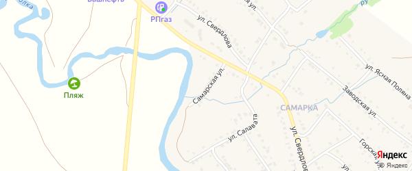 Самарская улица на карте села Красноусольского с номерами домов