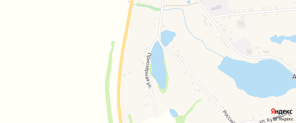 Приозерная улица на карте села Артакуля с номерами домов