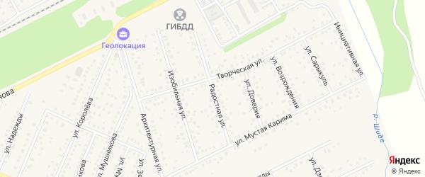 Радостная улица на карте села Иглино с номерами домов
