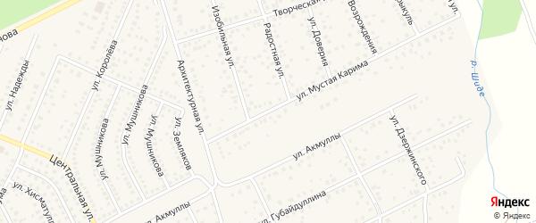 Улица М.Карима на карте села Иглино с номерами домов