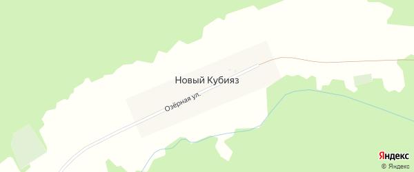 Озерная улица на карте деревни Нового Кубияза с номерами домов