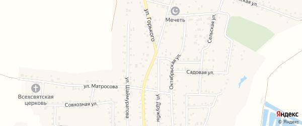 Улица Горького на карте села Прибельского с номерами домов