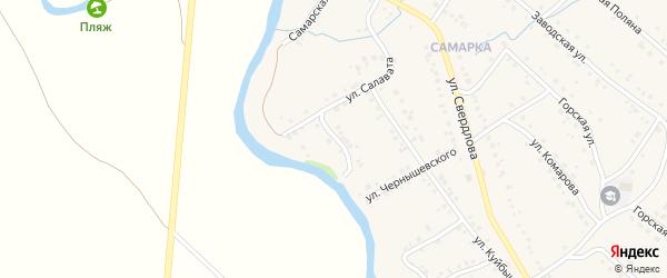 Переулок Салавата на карте села Красноусольского с номерами домов