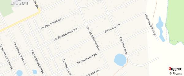 Демская улица на карте села Иглино с номерами домов