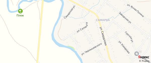 Улица Салавата на карте села Красноусольского с номерами домов