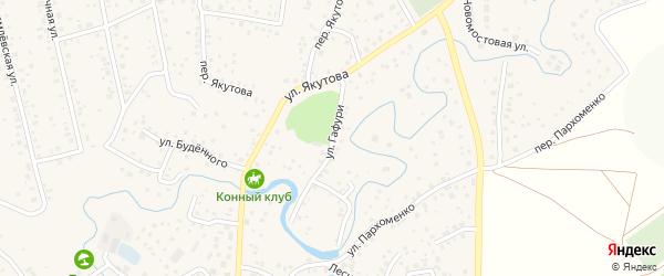 Улица Гафури на карте села Иглино с номерами домов