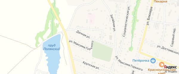 Дачная улица на карте села Красноусольского с номерами домов