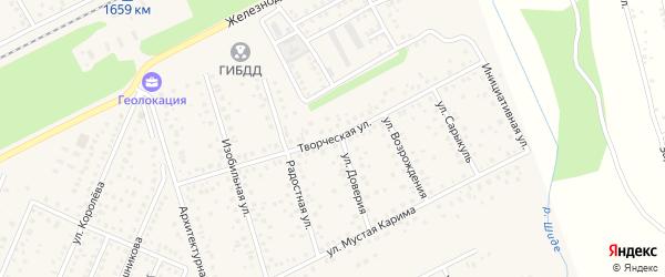 Творческая улица на карте села Иглино с номерами домов
