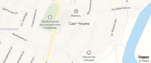 Школьная улица на карте села Сарта-Чишма с номерами домов