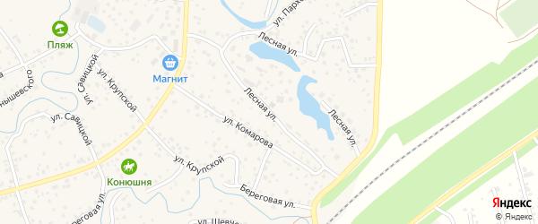 Лесная улица на карте села Иглино с номерами домов