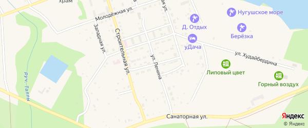 Лесная улица на карте села Нугуша с номерами домов