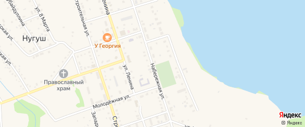 Набережная улица на карте села Нугуша с номерами домов