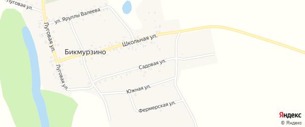 Садовая улица на карте деревни Бикмурзино с номерами домов