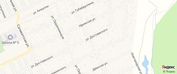 Сочинская улица на карте села Иглино с номерами домов