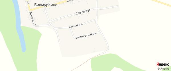 Фермерская улица на карте деревни Бикмурзино с номерами домов