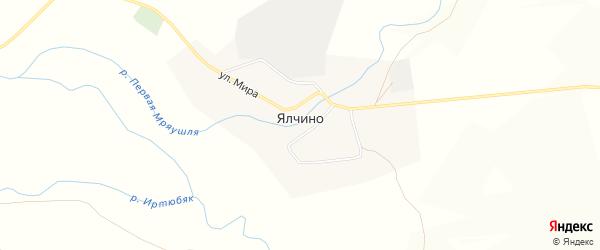 Карта деревни Ялчино в Башкортостане с улицами и номерами домов