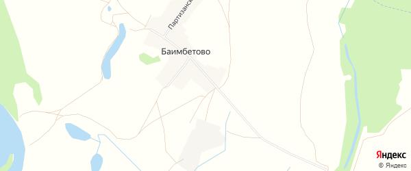 Карта деревни Баимбетово в Башкортостане с улицами и номерами домов